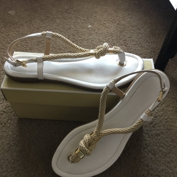 MICHAEL Michael Kors MICHAEL Michael Kors Holly Rope Trim Sandal Black 8 from Michael Kors | ShapeShop